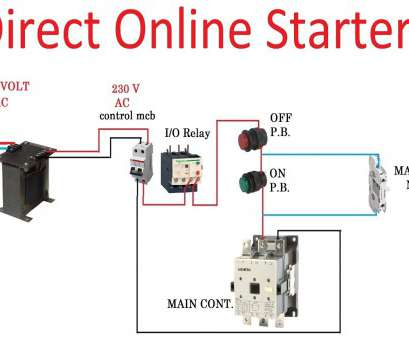 Dol Starter Wiring Diagram For Single Phase Motor. . Wiring ... on