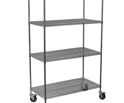rolling chrome wire shelving Storage Concepts 80, H x 60, W x 36, D 4-Shelf Steel Wire Shelving Unit in Chrome Rolling Chrome Wire Shelving Professional Storage Concepts 80, H X 60, W X 36, D 4-Shelf Steel Wire Shelving Unit In Chrome Photos