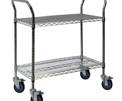 rolling chrome wire shelving Storage-Hub Chrome Wire Shelving Cart, 24, 60 W, 2 Shelves Rolling Chrome Wire Shelving Most Storage-Hub Chrome Wire Shelving Cart, 24, 60 W, 2 Shelves Galleries