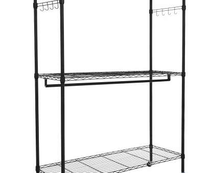 rolling wire shelves Homdox Double, Closet 3 Shelves Wire Shelving Clothing Rolling Rack Heavy Duty Garment Rack with Wheels, Side Hooks Rolling Wire Shelves Practical Homdox Double, Closet 3 Shelves Wire Shelving Clothing Rolling Rack Heavy Duty Garment Rack With Wheels, Side Hooks Galleries