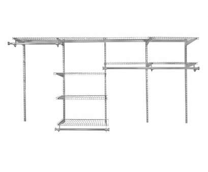 rubbermaid homefree wire shelving Rubbermaid HomeFree 4-ft to 8-ft Satin Nickel Adjustable Mount Wire Shelving Kits Rubbermaid Homefree Wire Shelving Practical Rubbermaid HomeFree 4-Ft To 8-Ft Satin Nickel Adjustable Mount Wire Shelving Kits Solutions