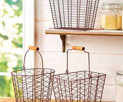 rustic wire mesh baskets Set of 3 Farmhouse Style Baskets Storage Organize Display Metal Rustic Country Rustic Wire Mesh Baskets Simple Set Of 3 Farmhouse Style Baskets Storage Organize Display Metal Rustic Country Galleries
