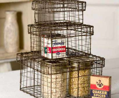 rustic wire mesh baskets Set of Three Nesting Wire Boxes, rustic wire basket, farmhouse storage, farmhouse baskets Rustic Wire Mesh Baskets Nice Set Of Three Nesting Wire Boxes, Rustic Wire Basket, Farmhouse Storage, Farmhouse Baskets Photos