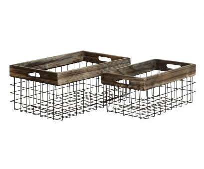 rustic wire mesh baskets Shop Farmhouse Rustic Iron, Wood Baskets (Set of 2), Free Rustic Wire Mesh Baskets Cleaver Shop Farmhouse Rustic Iron, Wood Baskets (Set Of 2), Free Collections
