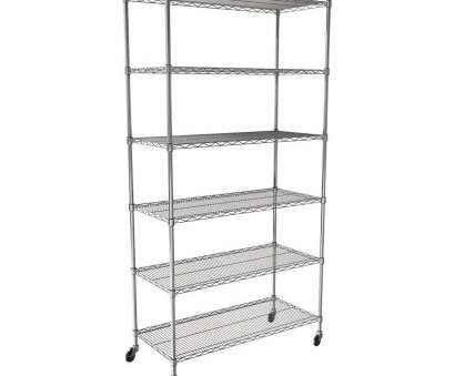 saferacks wire shelving storage units SAFERACKS, 6-TIER Wire Shelving Rack with Wheels, 48
