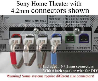 Samsung Speaker Wire Gauge Practical 6C 4.2Mm Speaker Cable/Wire Plug/Connectors Made, Select Sony Home Theater 713650522180, EBay Photos