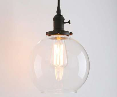 shorten wire pendant light Permo 1-light Vintage Industrial Clear Glass Hanging Pendant light with 5.9