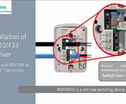 siemens thermostat wiring diagram RDJ10RF: Installing, RCR10/433 Receiver. Siemens Residential Controls 17 Most Siemens Thermostat Wiring Diagram Photos