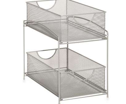 silver wire mesh kitchen cupboard baskets ORG 2-Tier Mesh Double Sliding Cabinet Basket in Silver, Kitchen Silver Wire Mesh Kitchen Cupboard Baskets New ORG 2-Tier Mesh Double Sliding Cabinet Basket In Silver, Kitchen Pictures