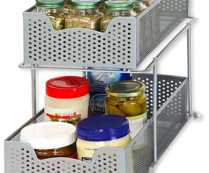 silver wire mesh kitchen cupboard baskets SimpleHouseware 2 Tier Sliding Cabinet Basket Organizer Drawer, Silver product image Silver Wire Mesh Kitchen Cupboard Baskets Creative SimpleHouseware 2 Tier Sliding Cabinet Basket Organizer Drawer, Silver Product Image Collections