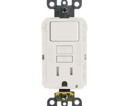 Single Gfci Outlet Wiring Diagram Most ... Wiring Leviton 15, 125 Volt Combo Self Test Tamper Resistant GFCI Outlet Incredible Combination Switch And Solutions