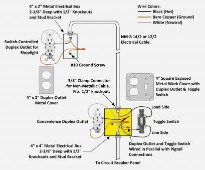 17 Popular Single Pole Switch, Outlet Wiring Diagram Images