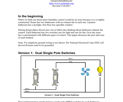 single pole switch wiring methods Version 1: Dual Single Pole Switches, manualzz.com Single Pole Switch Wiring Methods Nice Version 1: Dual Single Pole Switches, Manualzz.Com Solutions