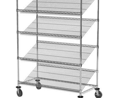 slanted wire shelving Get Quotations · Akro-Mils AWS2448SLMU 4-Slanted Shelf, Approved Commercial Grade Wire Mobile Shelving Cart Slanted Wire Shelving Creative Get Quotations · Akro-Mils AWS2448SLMU 4-Slanted Shelf, Approved Commercial Grade Wire Mobile Shelving Cart Galleries
