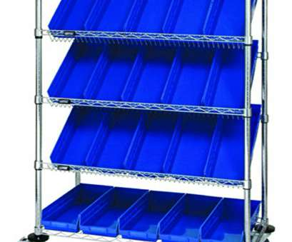 slanted wire shelving Quantum Storage Systems WRCSL5-63-1836-104BL 5-Tier Slanted Wire Shelving Suture Cart with 20 QSB104 Blue Economy Shelf Bins, 2 Horizontal, 3 Slanted Slanted Wire Shelving Creative Quantum Storage Systems WRCSL5-63-1836-104BL 5-Tier Slanted Wire Shelving Suture Cart With 20 QSB104 Blue Economy Shelf Bins, 2 Horizontal, 3 Slanted Solutions