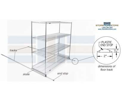 sliding wire shelves Moving Modular Wire Shelving, (16' Wide x 5' Long x 6'2