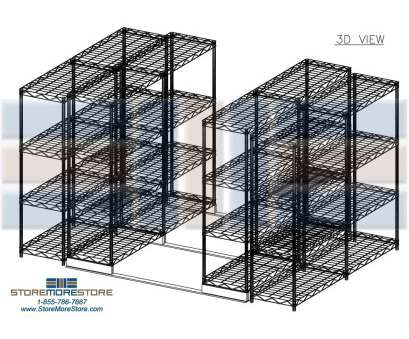 sliding wire storage shelves Sliding Wire Shelves on Tracks (14' Wide x 9' Long x 6'2