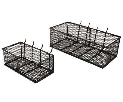 small black wire mesh baskets null Steel Mesh Pegboard Basket in Black(2-Pack) 8 Brilliant Small Black Wire Mesh Baskets Pictures