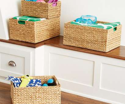 small round wire mesh baskets Water Hyacinth Storage Bins with Handles Small Round Wire Mesh Baskets New Water Hyacinth Storage Bins With Handles Photos