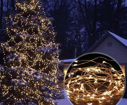 solar christmas lights white wire Solar Powered 33ft, 100 LEDs Starry String Lights, Copper Wire Lighting, Gardens, Homes Christmas Party (Warm White)-in Lighting Strings from Lights 9 New Solar Christmas Lights White Wire Pictures