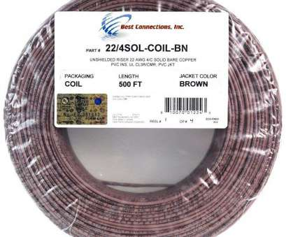 solid copper electrical wire Amazon.com: 500' Feet Brown 22 Gauge, 4 Conductor Solid Copper Alarm Wire Security Cable: Everything Else Solid Copper Electrical Wire Cleaver Amazon.Com: 500' Feet Brown 22 Gauge, 4 Conductor Solid Copper Alarm Wire Security Cable: Everything Else Ideas