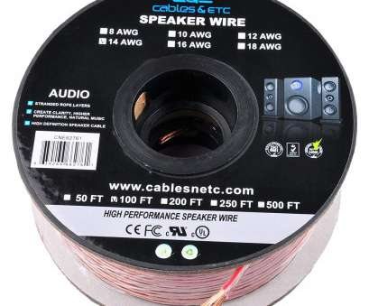 speaker wire 6 gauge Amazon.com:, 100 Feet 14AWG Enhanced Loud Oxygen-Free Copper Speaker Wire Cable, CNE62761: Home Audio & Theater Speaker Wire 6 Gauge Popular Amazon.Com:, 100 Feet 14AWG Enhanced Loud Oxygen-Free Copper Speaker Wire Cable, CNE62761: Home Audio & Theater Solutions