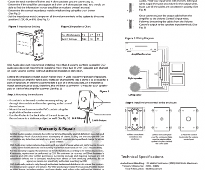 speaker wire chart watts OSD Audio OVC100 User Manual, 1 page, Also for: OVC300 Speaker Wire Chart Watts Creative OSD Audio OVC100 User Manual, 1 Page, Also For: OVC300 Collections
