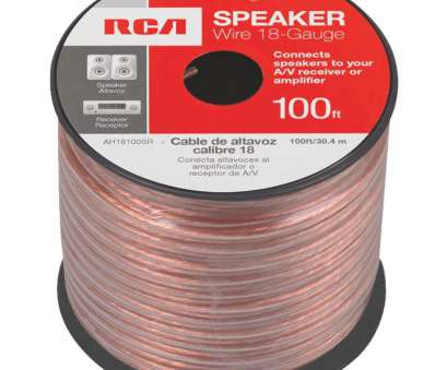 speaker wire gauge power handling RCA 18-Gauge Speaker Wire, AH18100SR, Willits Power, Hardware 13 Best Speaker Wire Gauge Power Handling Solutions
