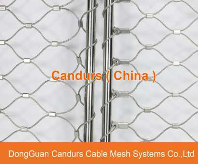 stainless steel rope mesh with ferrules AISI, Flexible Stainless Steel Ferrule Cable Mesh, Staircase Mesh Stainless Steel Rope Mesh With Ferrules Fantastic AISI, Flexible Stainless Steel Ferrule Cable Mesh, Staircase Mesh Pictures