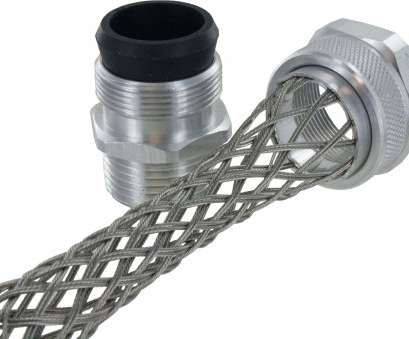 stainless steel wire mesh cord grip 1-1/4