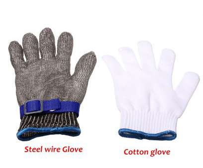 stainless steel wire mesh gloves Safety, Proof Stab Resistant Stainless Steel Metal Mesh Butcher Glove Blue Stainless Steel Wire Mesh Gloves Perfect Safety, Proof Stab Resistant Stainless Steel Metal Mesh Butcher Glove Blue Images