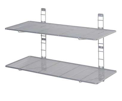 stainless steel wire mesh shelves Amazon.com: Seville Classics 2-Tier Iron Mesh Adjustable Floating Wall Shelves,, x 14