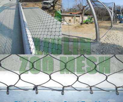 Stainless Steel Wire Rope Mesh Cleaver Black Stainless Steel Mesh, Zoo Cage Fence, Stainless Steel Images