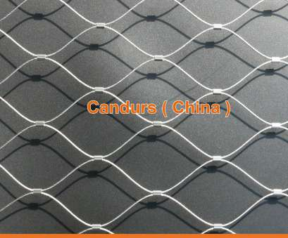 Stainless Steel Wire Rope Mesh Creative Stainless Steel Wire Rope Helideck Mesh, DecorRope, Candurs Collections