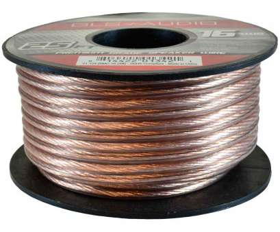 stock speaker wire gauge GLS Audio Premium 16 Gauge 25 Feet Speaker Wire, True 16AWG Speaker Cable 25ft Clear Jacket 10 Best Stock Speaker Wire Gauge Images