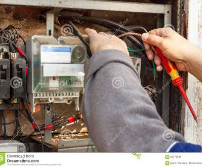 Switchgear Wiring Perfect Download Repair Of, Electrical Switchgear. An Electrician Replaces, Electrical Wiring Devices. Stock Photos