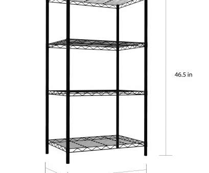 Tall Narrow Wire Shelving Fantastic Home Basics 4-Tier Steel Wire Shelf, Black Photos