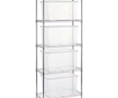Tall Narrow Wire Shelving Nice Shopfitting Warehouse Narrow Chrome Wire Shelving Unit, 60 L Storage Boxes, H1800 X W750 X D350, Amazon.Co.Uk: Kitchen & Home Collections