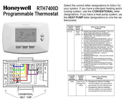 thermostat wiring diagram with heat pump Honeywell Programable Thermostat Wiring Diagram, Conventional, Heat Pump Or Cooling Fan Thermostat Wiring Diagram With Heat Pump Brilliant Honeywell Programable Thermostat Wiring Diagram, Conventional, Heat Pump Or Cooling Fan Images