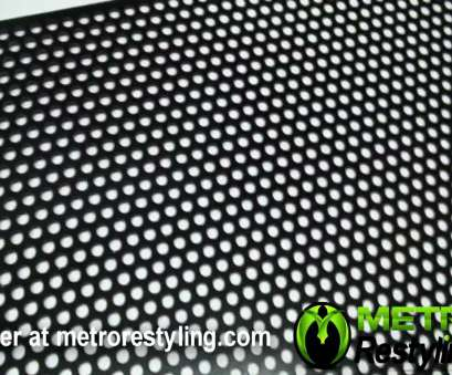 thick woven wire mesh Black Universal Perforated Circle Mesh Grille, x 48