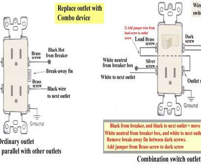 on switched receptacle diagram, switch outlet combo wiring-diagram, combination double switch diagram, electrical outlet wiring diagram, switched outlet wiring diagram, light switch from outlet diagram,