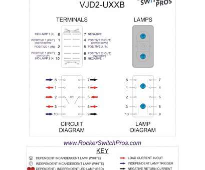 Toggle Switch Wiring 6 Pin Most ... 6, 5, Rocker Switch Wiring Diagram Lovely Dpdt Blue, Vjd1 Pros Vjd2 Uxxb Of 11 Images