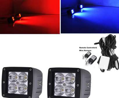 track lighting red wire Amazon.com:, LIGHT, 3x3 Inch, Blue Color Changing, Pods by Wireless Remote 9 Flashing Modes Strobe Flash, Emergency Warning Traffic Adviser 13 Cleaver Track Lighting, Wire Solutions