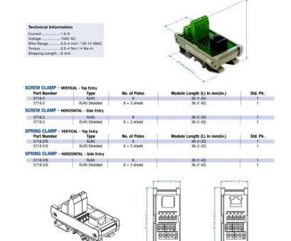 umk-rj45/10 wiring diagram RJ45 Terminal Block Interface Modules, Mouser 14 Brilliant Umk-Rj45/10 Wiring Diagram Ideas