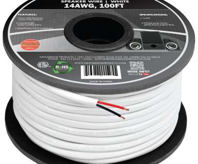 Underground Electrical Wire Size Calculator Professional Mediabridge 14AWG 2-Conductor Speaker Wire (100 Feet, White), 99.9% Galleries