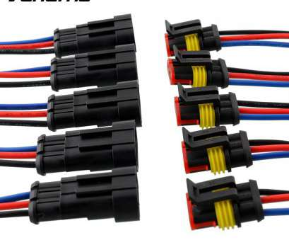 Vehicle Electrical Wiring Best Vehemo, 5, 3, Way, Vehicle Waterproof Electrical Connector Plug W/Wire, Marine High Quality-In Fuses From Automobiles & Motorcycles On Photos
