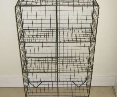 vintage wire shelving units Metal Wire Locker Room Storage Shelf Unit Cage Rack Vintage 9 Brilliant Vintage Wire Shelving Units Solutions