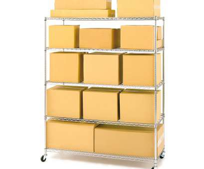 walmart wire shelving on wheels Seville Classics 24
