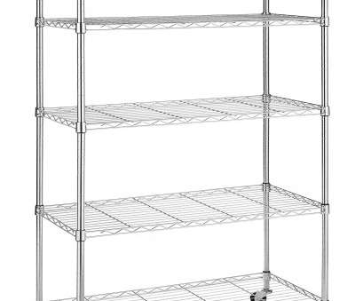 walmart wire shelving on wheels Whitmor Supreme 5-Tier Cart with Wheels Chrome Walmart Wire Shelving On Wheels Practical Whitmor Supreme 5-Tier Cart With Wheels Chrome Collections