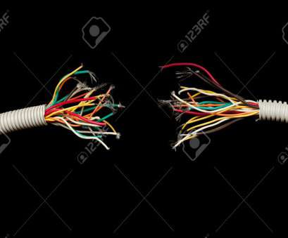 what electrical wire is black Stock Photo, torn apart wires isolated on black background What Electrical Wire Is Black Best Stock Photo, Torn Apart Wires Isolated On Black Background Galleries
